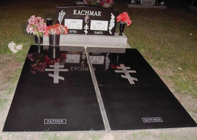 Signs, Benches and Misc: Grave_Covers-Kachmar