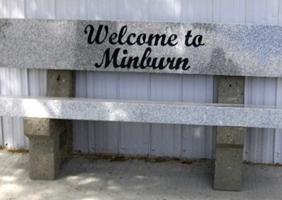 Signs, Benches and Misc: Minburn